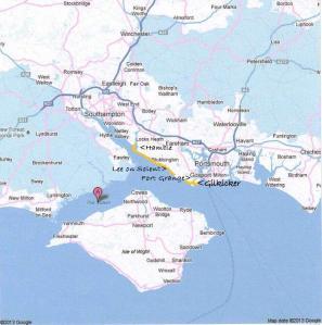 Solent map googleHamble
