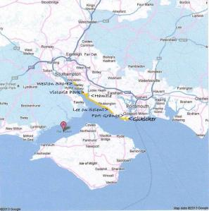 Solent map googleWeston Shore