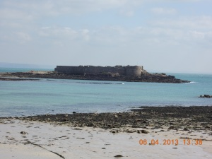 Longis Bay and  Raz Island