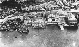 Supermarine Works & CHANNEL on slipway