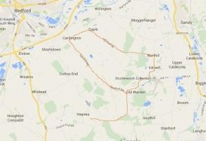Mid Bedfordshire Villages around Old Walden ~ Google Maps