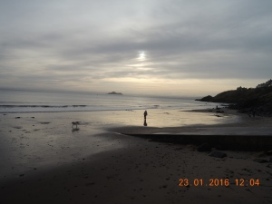 Kinghorn beach dusk