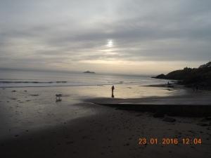 Kinghorn beach dusk