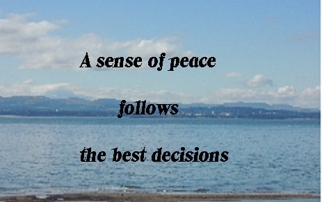 A sense of peace